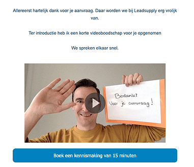 leads opvolgen via video