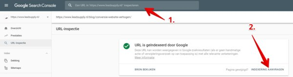 Blog aanmelden in Google Search Console