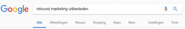 Voorbeeld van een zoekopdracht in Google