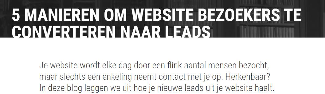 website bezoekers